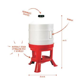 Voet trog 30 liter
