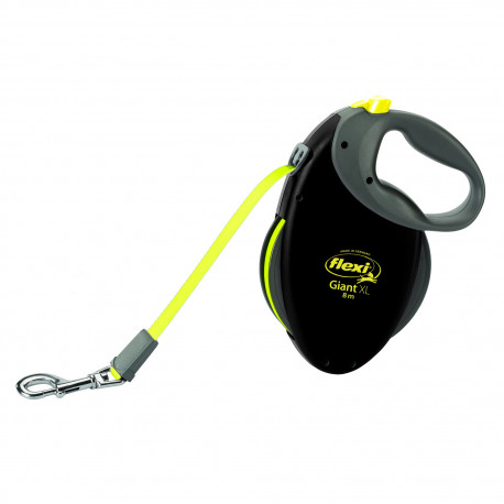 Winder leash Flexi Giant neon with strap