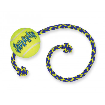 Tennis ball + rope