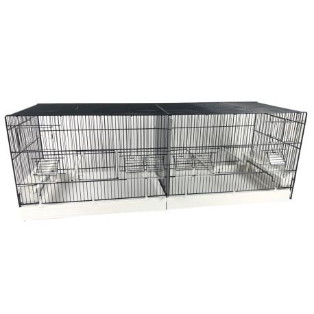 Cage Domus-Molinari 120 x 40 cm painted in anthracite grey