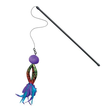 Canne à pêche avec plumes