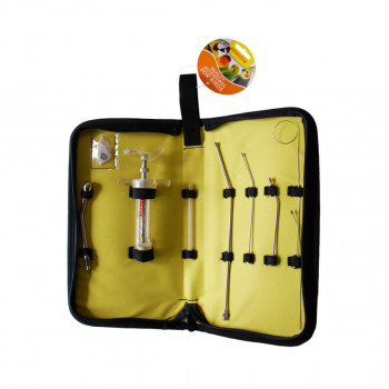 Gavage syringe kit with...