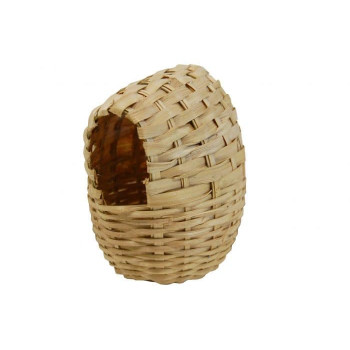 Wicker nest with exotic...