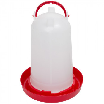 3 litre poultry drinker - Red