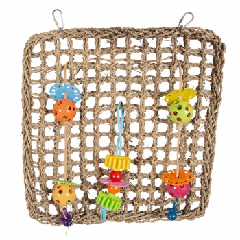 Climbing net with colorful...
