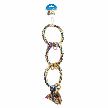 Corde avec 3 anneaux - 60cm
