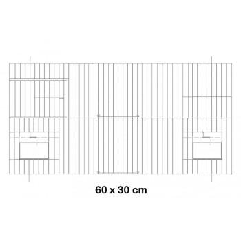 Devanture noire 60x30 cm